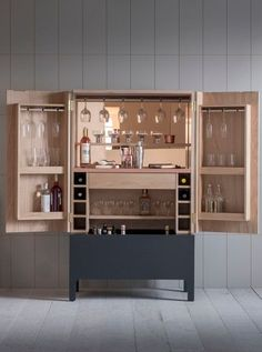 How to… create the perfect home bar Richard Miller of cabinetmaker Halstock shares his advice on everything you need to create. Bar Furniture For Sale, Home Decor Furniture, Furniture Design, Armoire Bar, Home Bar Areas, Game Room Bar, Living Room Bar, Bar Unit, Drinks Cabinet