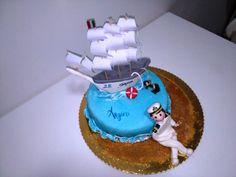 #cake #torta #tortakider #amaretto #mare #sea #veliero #marina #marine #marincake #tortamarinamilitare #ancora #slvagente #onde #anchor #lifebelt #vessel