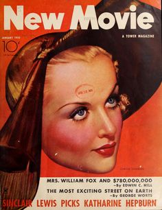 Carole Lombard on the cover of The New Movie Magazine (Jan-Sep 1935)
