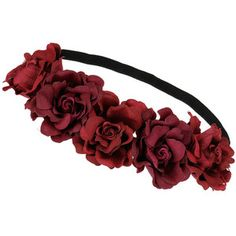 Miss Selfridge Burgundy Flower Headband