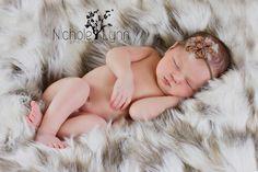 Tibetan Sand Fox Faux Fur Photo Prop, Newborn Photo Prop, Thick Pile, Baby Photo Prop. Layering Blanket.