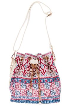 ROMWE | Retro Ethnic Pattern Print Bucket Bag, The Latest Street Fashion