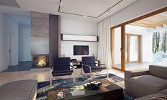 Projekt domu Artus 136,81 m2 - koszt budowy - EXTRADOM Modern Small House Design, Modern Interior Design, Interior Ideas, Modern Bungalow House, House Construction Plan, Flat Roof, Design Case, Home Fashion, Planer