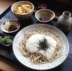 2014.2.26. Soba-Lunch:cold Sansai-soba, small Oyako-don(Yoshimura)