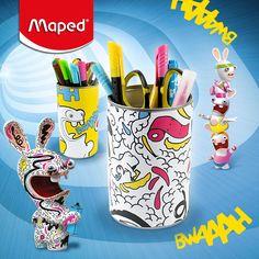 Et si vous faisiez les plus beaux pots à crayons pour ranger les supers produits Maped sur le bureau de vos enfants ? Suivez notre activité sur → http://www.maped-creatives.com/pot-a-crayons-diy/
