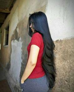 Long hair is really amazing Long Dark Hair, Long Layered Hair, Very Long Hair, Haircuts For Long Hair, Long Hair Cuts, Beautiful Long Hair, Gorgeous Hair, Long Indian Hair, Silky Hair