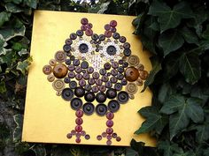 owl made with buttons...love it!