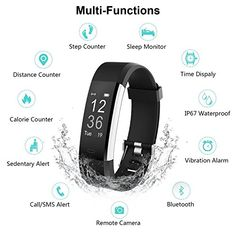 Fitness Tracker Heart Rate Monitor, Smart Bracelet IP67 Waterproof Alarm Clock Meter Smart Watch Bluetooth Sport Fitness sleep Tracker Monitor Track Wristband with Replacement Band - http://physicalfitnessshop.com/shop/fitness-tracker-heart-rate-monitor-smart-bracelet-ip67-waterproof-alarm-clock-meter-smart-watch-bluetooth-sport-fitness-sleep-tracker-monitor-track-wristband-with-replacement-band/ http://physicalfitnessshop.com/wp-content/uploads/2018/04/aed18ce05fd9.jpg