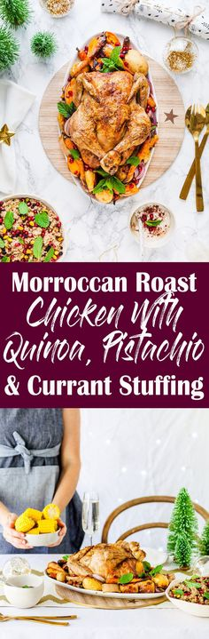 Moroccan Roast Chick Moroccan Roast Chicken With Quinoa. Moroccan Roast Chick Moroccan Roast Chicken With Quinoa Moroccan Roast Chick Moroccan Roast Chicken With Quinoa Pistachio & Currant Stuffing {GF DF} Healthy Meals For Kids, Healthy Dinner Recipes, Kids Meals, Easy Meals, Healthy Food, Australian Food, Us Foods, Bbq Meat, Roast Chicken