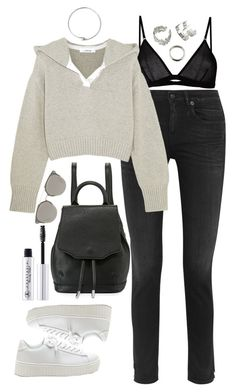 """""""Untitled #442"""" by lindsjayne ❤ liked on Polyvore featuring R13, Maison Close, rag & bone, Adeam, Acne Studios and Christian Dior"""