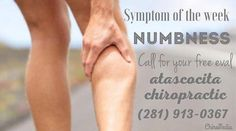 Symptom of the Week: Numbness Hip Pain, Neck Pain, Chiropractic, How To Get Rid, Pain Relief, How To Plan, Liberty, Healthy Living, Sore Neck