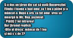 S-a dus un țaran din sat să vadă Bucureștiul