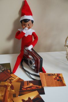 Elf on a Shelf - Antic: Documenting his hiding spots...Man he gets around!