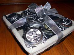 Basket of cupcakes in a jar