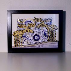 losy v modrých vzorech Frame, Home Decor, Atelier, Picture Frame, Decoration Home, Room Decor, Frames, Home Interior Design, Home Decoration