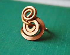 swirly copper ring by marieyoungdesigns