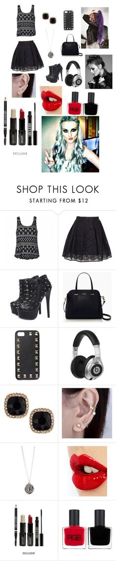"""Perry ?❤️"" by josefina-dominguez ❤ liked on Polyvore featuring Ally Fashion, MSGM, AX Paris, Kate Spade, Valentino, Beats by Dr. Dre, Fragments, Charlotte Tilbury, Lord & Berry and RGB"