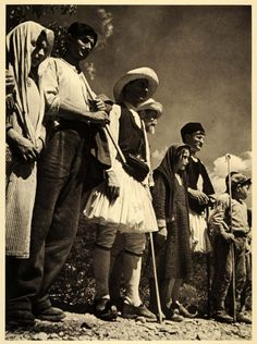 1937 Olympia Greece People Costume Leni Riefenstahl - ORIGINAL PHOTOGRAVURE (On Ebay)