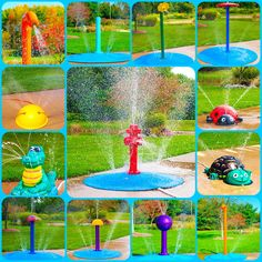 Just attach a garden hose for your backyard splash pad! If a permanent splash pad is not in the budget, check out our portable splash pad line! http://myportablesplashpad.com/ Completely portable to take to parties, holidays, or birthdays! 10 year warranty!!