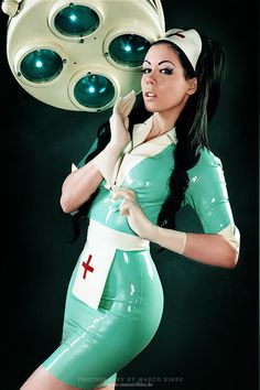 Sexy latex nurse fetish