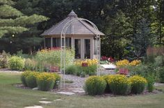 Flower Gardens Gazebo, Landscaping, Gardens, Outdoor Structures, Flowers, Kiosk, Pavilion, Outdoor Gardens, Yard Landscaping