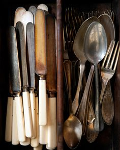 knives, spoons and forks - props from Adriana Mullen