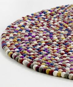 textiles—the lovely round Pinocchio rug by Hay