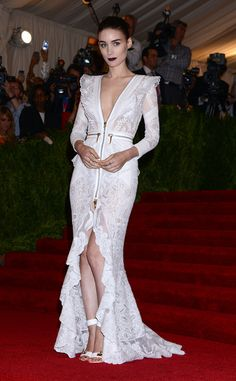 """Rooney Mara arriving at the Met Gala 2013: """"PUNK: Chaos To Couture"""" at the Metropolitan Museum of Art in New York City - May 6, 2013 - Photo: Runway Manhattan/AFF"""