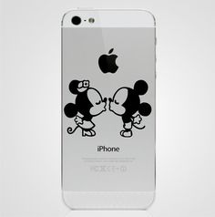 Minnie Mouse And Mickey Mouse Kissing  - iPhone 5 Sticker Decal Apple on Etsy, $3.49