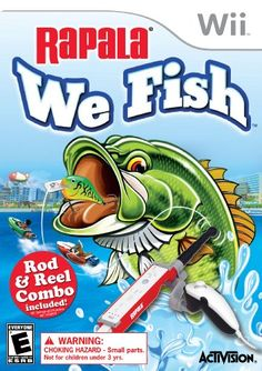 Rapala: We Fish with Rod Bundle - Nintendo Wii by Activision - design dance Going Fishing, Best Fishing, Fishing Rod, Sports Games For Kids, Wii Games, Latest Games, Childrens Gifts, Fishing Humor, Coupon Design
