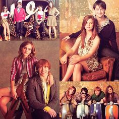 Emma Watson, Rupert Grint, Daniel Radcliff and Bonnie Wright