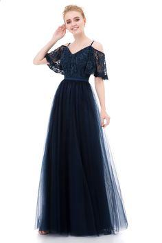 e4ab8bdb8c Vestido Madrinha Sukienki Druhna Długie 2017 Tiul Koronkowe V Neck  Eleganckie Sukienki Weselne Gości ze Spaghetti