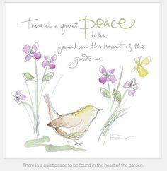 Quiet peace in the garden