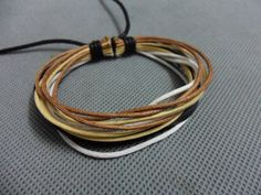 Adjustable Real Leather and brown Cotton Rope by beautiful365, $3.00