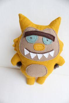 Harold the Monster Doll - Stuffed Animal, Softie, Toy, Plush, Felt