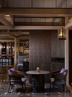 Lobby lounge of the Four Seasons Kyoto by HBA Design.