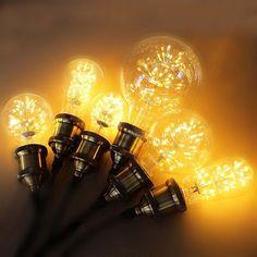 Star Edison 3W LED Glass Bulb Vintage Industrial Retro Light Lamp E27 Screw 220V