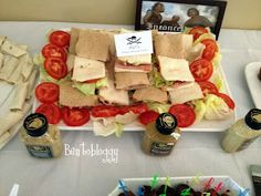 "Bentobloggy: Princess Bride Party - lots of food ideas MLT's ""Mutton Lettuce and Tomato"""