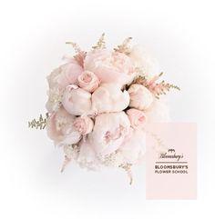 Bllomsbury's baby pink peony bridal bouquet design.