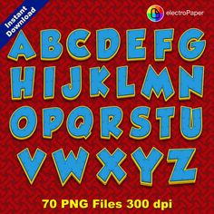 PAW PATROL Full Alphabet Clipart 70 png files por ElectroPaper