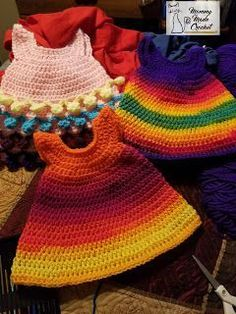 "Mommy Made Crochet: 18"" Doll Dresses ** free crochet pattern"
