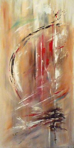 Tableau Peinture Art abstrait acrylique rouge mouvement Abstrait Acrylique - Un autre monde