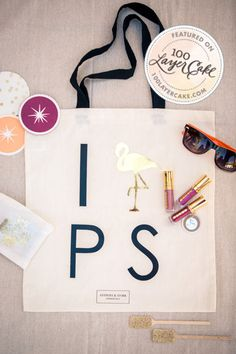 Tote featured on 100 Layer Cake and Established California! The I heart Palm Springs tote is perfect for any event in Palm Springs or as an