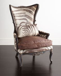 Bono+Hairhide+Wing+Chair+by+Old+Hickory+Tannery+at+Neiman+Marcus.