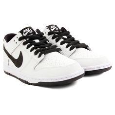 9317bd6ce6b1 Dunk Low Pro Ishod Wair Shoes in White   Black - White by Nike SB Nike