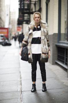 New York Fashion Week Street Style Februar 2016 | POPSUGAR Germany