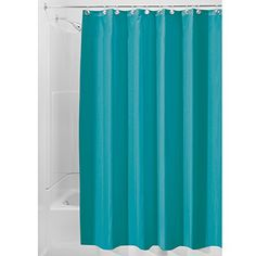 InterDesign MildewFree WaterRepellent Fabric Shower Curtain 72Inch by 72Inch Teal -- Continue to the product at the image link.