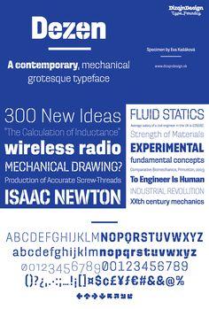 Dezen Pro - Free Font #webdesign #design #designer #typography #type #font #fonts #free #download