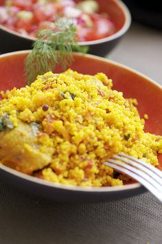Couscous with apricot chicken