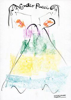 miyuki ohashi drawing etcetra — Natasha PolyEmilio Pucci Spring 2015 Ad ...